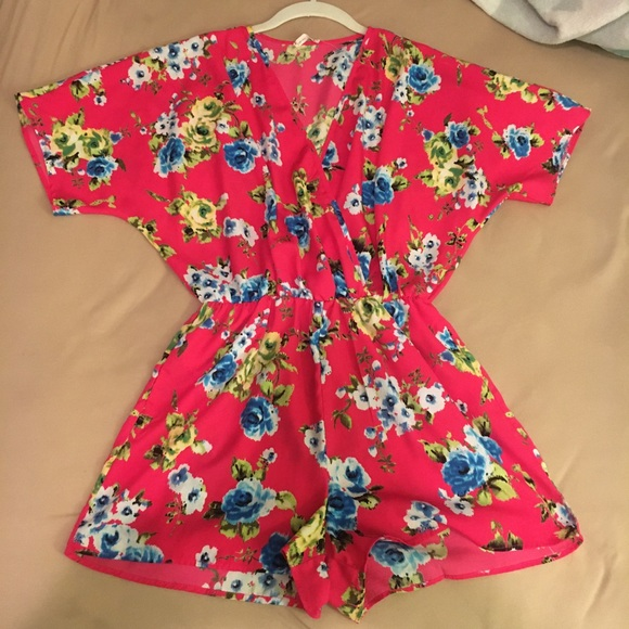Soprano Dresses & Skirts - Colorful Floral Romper